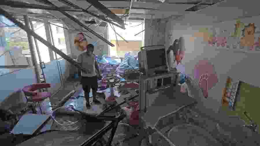 5.ago.2020 - Hospital Wardieh fica destruído após explosão no Porto de Beirute, no Líbano - AFP