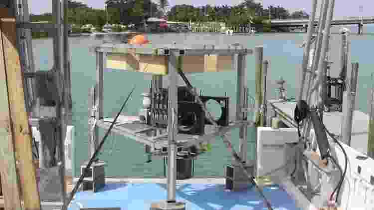 "O ""módulo de aterrissagem"" foi criado por cientistas para conseguir descer até o Green Banana - FAU Harbor Branch - FAU Harbor Branch"