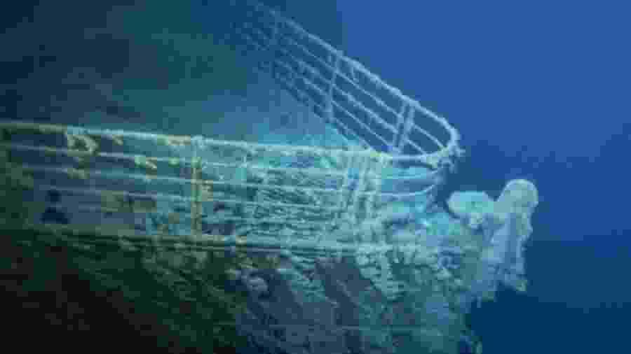 O navio naufragado RMS Titanic, próximo à Terra Nova, no Canadá, em 1996 - Xavier Desmier/ Gamma-Rapho/Divulgação