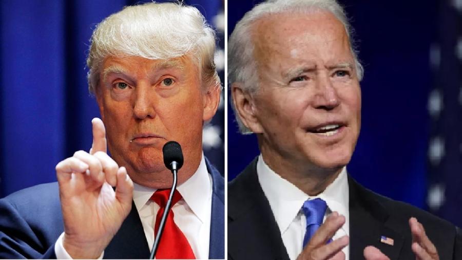 Donald Trump e Joe Biden disputam a Presidência dos Estados Unidos - Brendan McDermid/Reuters;  Kevin Lamarque/Reuters
