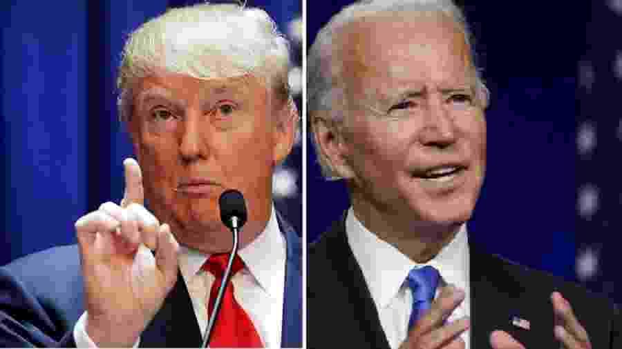 Donald Trump e Joe Biden - Brendan McDermid/Reuters;  Kevin Lamarque/Reuters