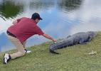 Golfista destemido recupera bola da cauda de crocodilo na Flórida; assista - Reprodução/Facebook/Kyle Downes