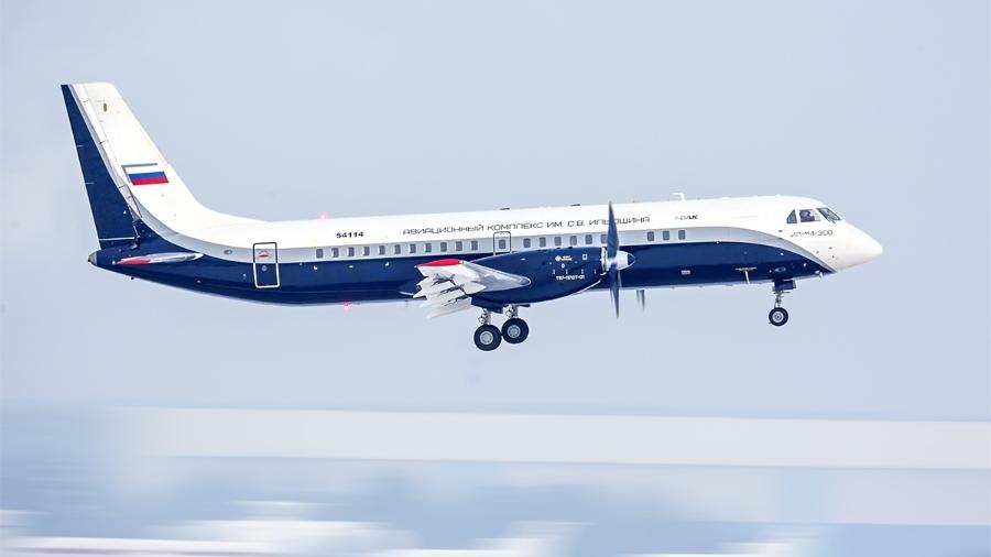 Novo turboélice russo Il-114-300 está em fase de teste de voo - Divulgação