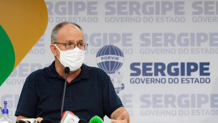 O governador de Sergipe, Belivaldo Chagas. Estado mantém o toque de recolher das 22 horas às 5 horas do dia seguinte  - Mário Sousa/Supec