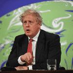 22.abr.2021 - Boris Johonson, primeiro-ministro do Reino Unido, discursa na Cúpula de Líderes sobre o Clima - JUSTIN TALLIS/AFP