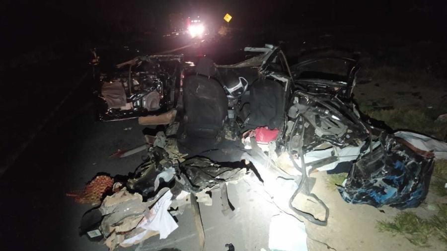 Oléo na pista provoca acidente, e cinco pessoas da mesma família morrem na Bahia - Divulgação/PRF-BA