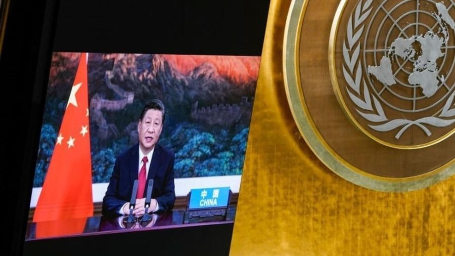 Presidente da China, Xi Jinping, disse em assembleia do ONU que vai parar de financiar construção de usinas a carvão fora do país - GETTY IMAGES