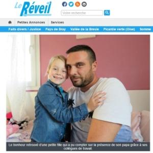 Jonathan Dupré e a filha, Naëlle - Reprodução/Le Réveil