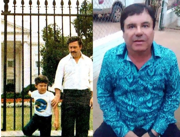 O colombiano Pablo Escobar ganhava tanto dinheiro que lavar todo o lucro se tornou impossível. Além do que era escondido em fazendas, Escobar e sua família tinham uma vida com muito luxo, incluindo o próprio zoológico. Há relatos de que o Rei da Cocaína chegou a queimar US$ 2 milhões em uma fogueira para aquecer sua filha com hipotermia. Ele ainda gastava US$2.500 mensais com elásticos para organizar todo o dinheiro que entrava. Na imagem acima, Escobar aparece diante da Casa Branca com o filho. O mexicano Chapo Guzmán teve sua coleção de 33 carros e motocicletas luxuosas confiscada no ano passado pelas autoridades do país. Ele teria ainda aviões Boeing 747 sem os assentos e até mesmo submarinos para transportar drogas. Na foto acima, ele deu a entrevista para o ator Sean Penn, trazido de avião para um esconderijo no meio da selva mexicana onde El Chapo vivia confortavelmente