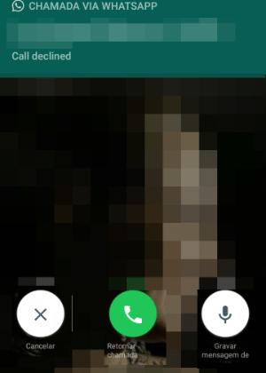 Tela mostra novos botões do WhatsApp para rediscar e gravar mensagens de voz
