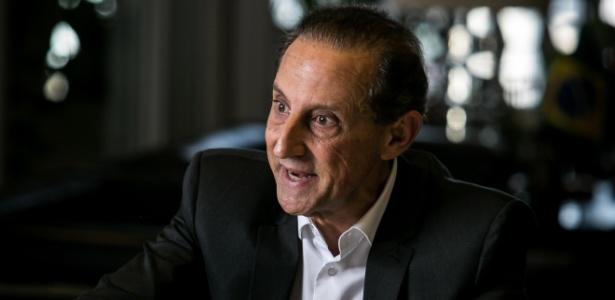 Paulo Skaf durante entrevista na sede da Fiesp