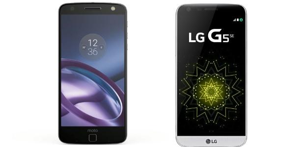 Moto Z (Lenovo) e G5 SE (LG)