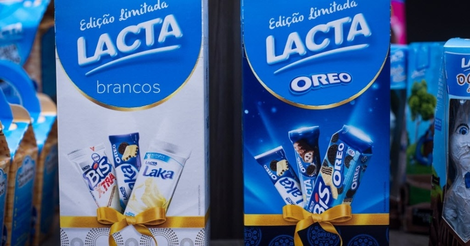 Embalagem da Lacta com barras sortidas tem preço sugerido de R$ 15 (215 g)