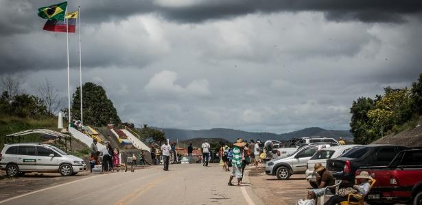 Fronteira entre Brasil e Venezuela em Pacaraima (RR)