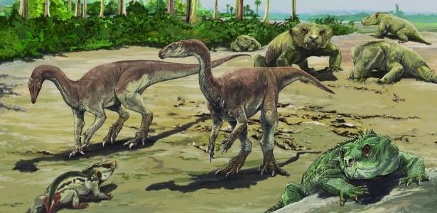 "Bagualosaurus agudoensis, ou ""lagarto bagual de Agudo"", viveu há 230 milhões de anos"