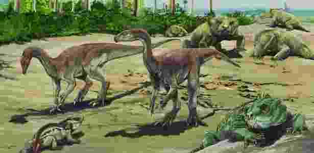 """Bagualosaurus agudoensis, ou """"lagarto bagual de Agudo"""", viveu há 230 milhões de anos - Jorge Blanco/Divulgação"""