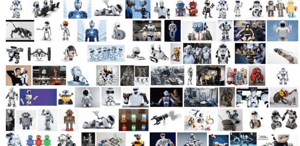 Busca no Google por 'robôs' mostra que a maioria dessas máquinas é branca. - Reprodução/Google