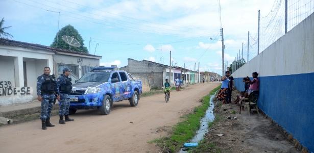Guarda municipal faz ronda no distrito de Luziápolis, em Campo Alegre (AL)
