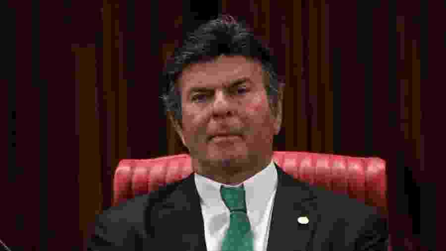 10.dez.2018 - O ministro do STF (Supremo Tribunal Federal) Luiz Fux durante cerimônia de diplomação do presidente eleito, Jair Bolsonaro (PSL) - Fátima Meira/Futura Press/Estadão Conteúdo