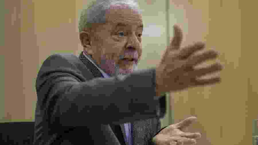 Ex-presidente Lula durante entrevista à Folha e ao El País - Marlene Bergamo/Folhapress