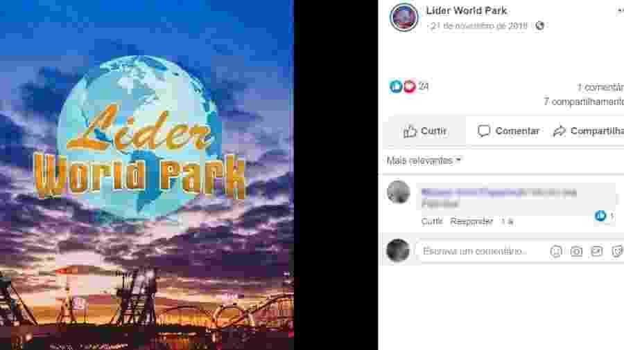 Funcionário terceirizado do Lider World Parque é acusado de estuprar uma jovem no estacionamento do local - Reprodução/Facebook