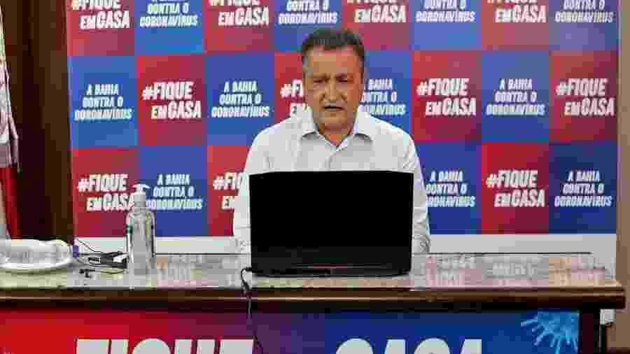 O governador Rui Costa é torcedor do Bahia; comentários foram feitos durante transmissão no seu Facebook - Paula Fróes/GOVBA