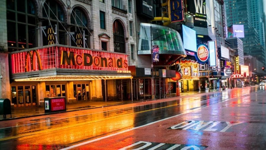 """Mc Donald""""s localizado na Times Square, em Nova York (EUA) fecha as portas após 18 anos - VIEW press/Corbis via Getty Images"""