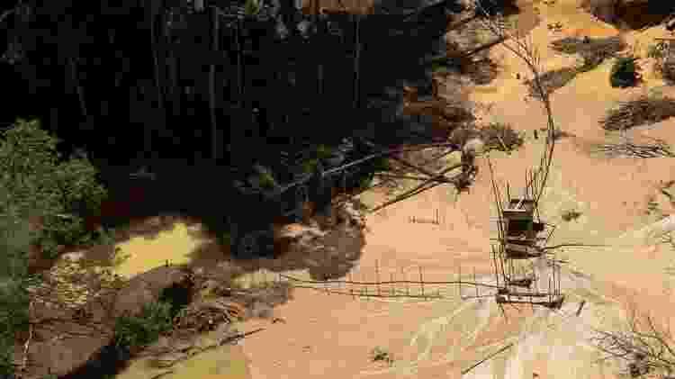 Área usada para escavação de ouro na terra yanomami - Joédson Alves/EFE - Joédson Alves/EFE
