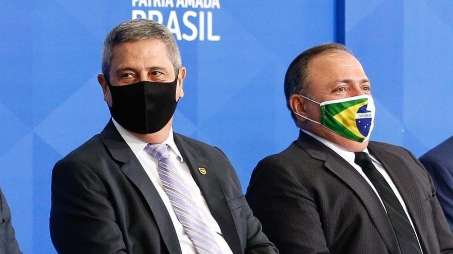 Braga Netto e Eduardo Pazuello - Carlolina Antunes / Presidência