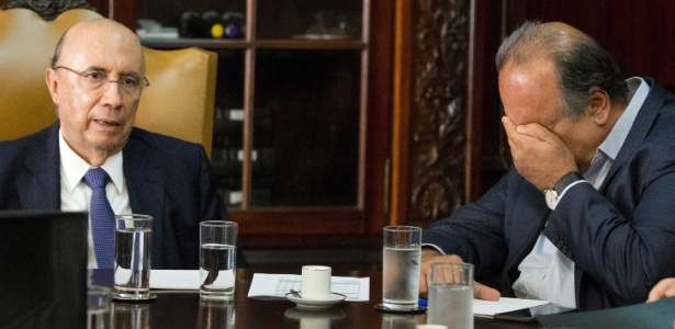 Luiz Fernando Pezão (PMDB) em reunião com o ministro da Fazenda, Henrique Meirelles
