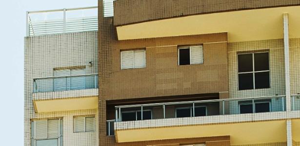 Fachada do edifício Solaris, localizado em Guarujá, litoral de SP