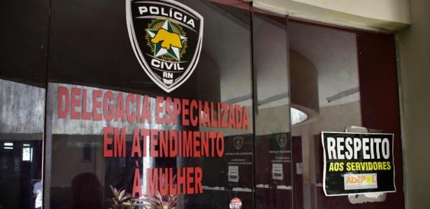 29.dez.2017 - Fachada da Delegacia da Polícia Civil, em Natal, nesta sexta-feira