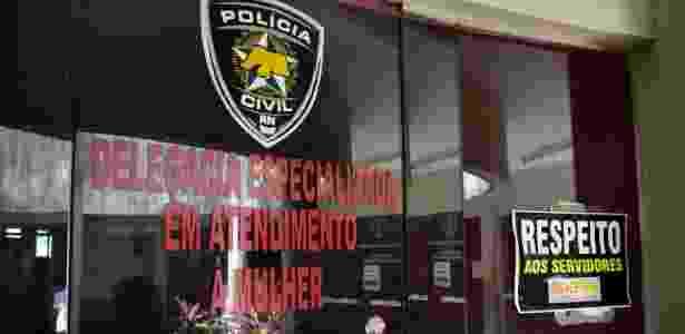29.dez.2017 - Fachada da Delegacia da Polícia Civil, em Natal, nesta sexta-feira - VITORINO JUNIOR/PHOTOPRESS/ESTADÃO CONTEÚDO