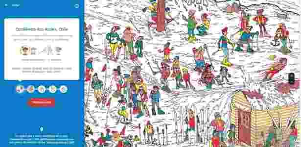 """1.abr.2018 - """"Onde está Wally?"""" do Google Maps no 1º de abril - Reprodução - Reprodução"""