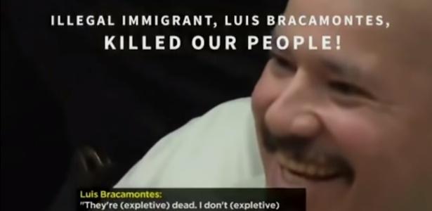 Propaganda mostra um imigrante mexicano declarando ter matado policiais
