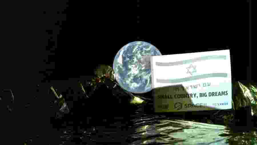 Sonda Beresheet tirou uma selfie com o planeta Terra - SpaceIL/Divulgação