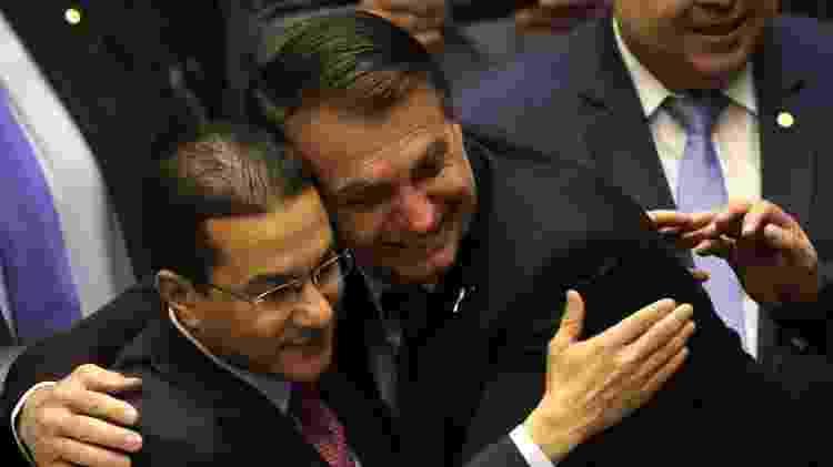 Bolsonaro e o deputado Marcos Pereira (PRB-SP), bispo da Igreja Universal - Fátima Meira/Futura Press/Estadão Conteúdo - Fátima Meira/Futura Press/Estadão Conteúdo