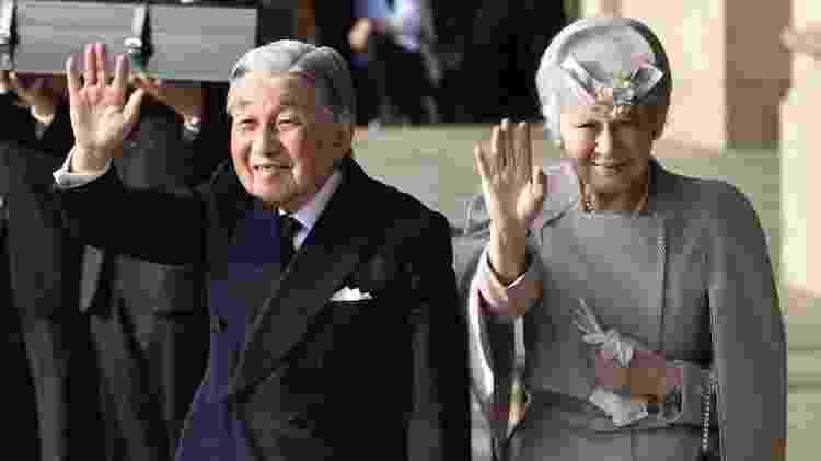 O antecessor Akihito abdicou do trono em razão de sua idade e de questões de saúde - Getty Images