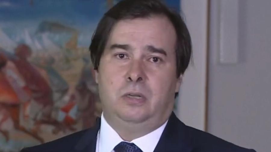 Maia criticou vídeo publicado por Jair Bolsonaro no Twitter - Reprodução/GloboNews