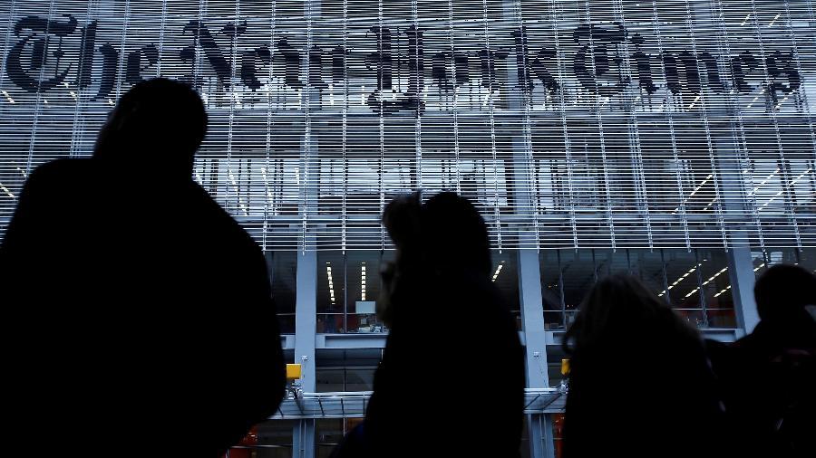 Jornal The New York Times foi um dos veículos de notícias que ficaram fora do ar - Carlo Allegri