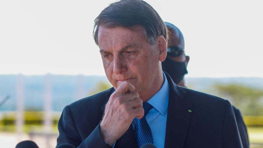 9.jun.2020 - O presidente Jair Bolsonaro (sem partido) após o fim da 34ª Reunião do Conselho de Governo Ministerial - Frederico Brasil/Futura Press/Estadão Conteúdo