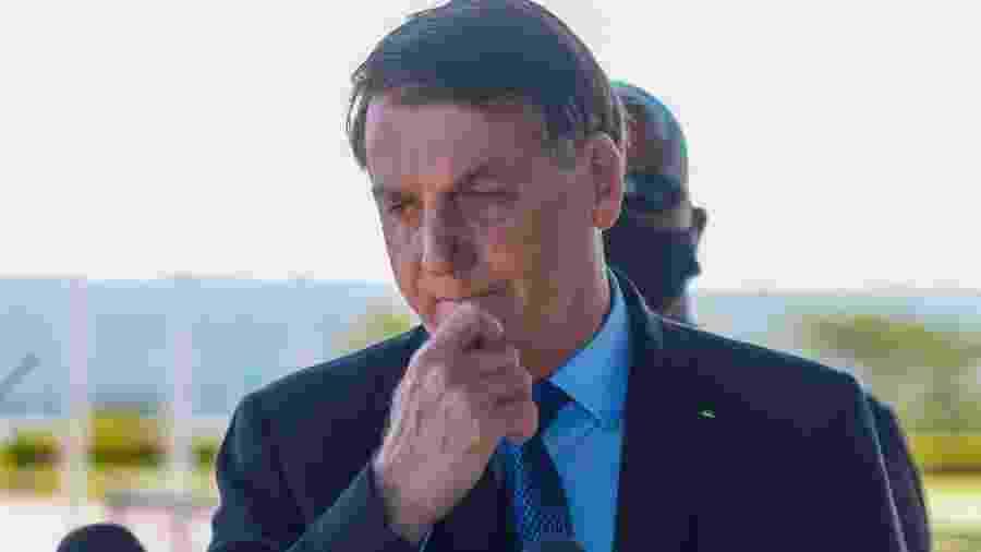 9.jun.2020 - O presidente Jair Bolsonaro (sem partido)  - Frederico Brasil/Futura Press/Estadão Conteúdo