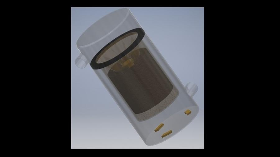 Filtro que captura microplástico, um dos principais poluentes dos mares - Arquivo pessoal/ Samuel Feitosa