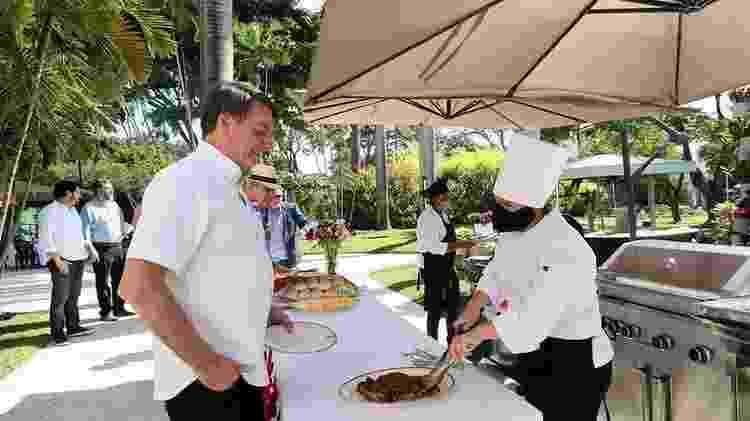 Jair Bolsonaro em evento comemorativo pela independência americana no último dia 4 - ISAC NÓBREGA/PR - ISAC NÓBREGA/PR