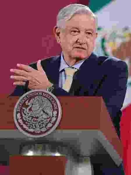 O presidente do México, Andrés Manuel López Obrador (AMLO), falou sobre a vacina russa durante coletiva de imprensa - Hector Vivas/Getty Images