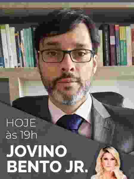 Jovino em anúncio de live com Antônia Fontenelle após incidente com a Magalu - Reprodução - Reprodução