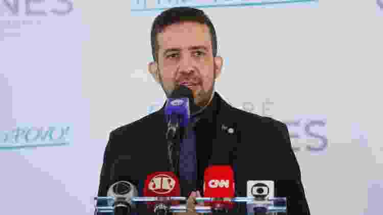 O deputado federal André Janones (Avante-MG) no lançamento oficial de sua candidatura à Presidência da Câmara - Najara Araújo/Câmara dos Deputados - Najara Araújo/Câmara dos Deputados