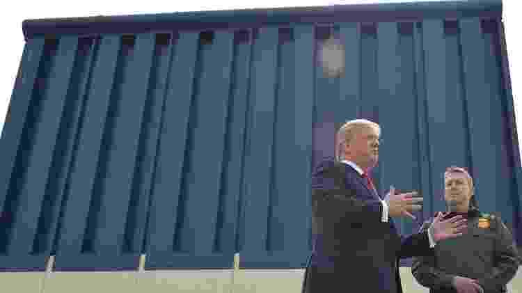 Trump não conseguiu que o Congresso aprovasse os recursos necessários para a construção do muro - Getty Images - Getty Images