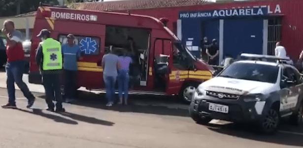 Homem foi preso no local   Jovem com facão mata 3 crianças e duas mulheres em SC