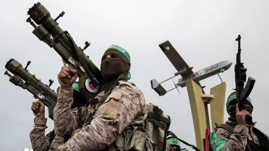 Hamas tem as Brigadas Izzedine al-Qassam como seu braço militar - AFP